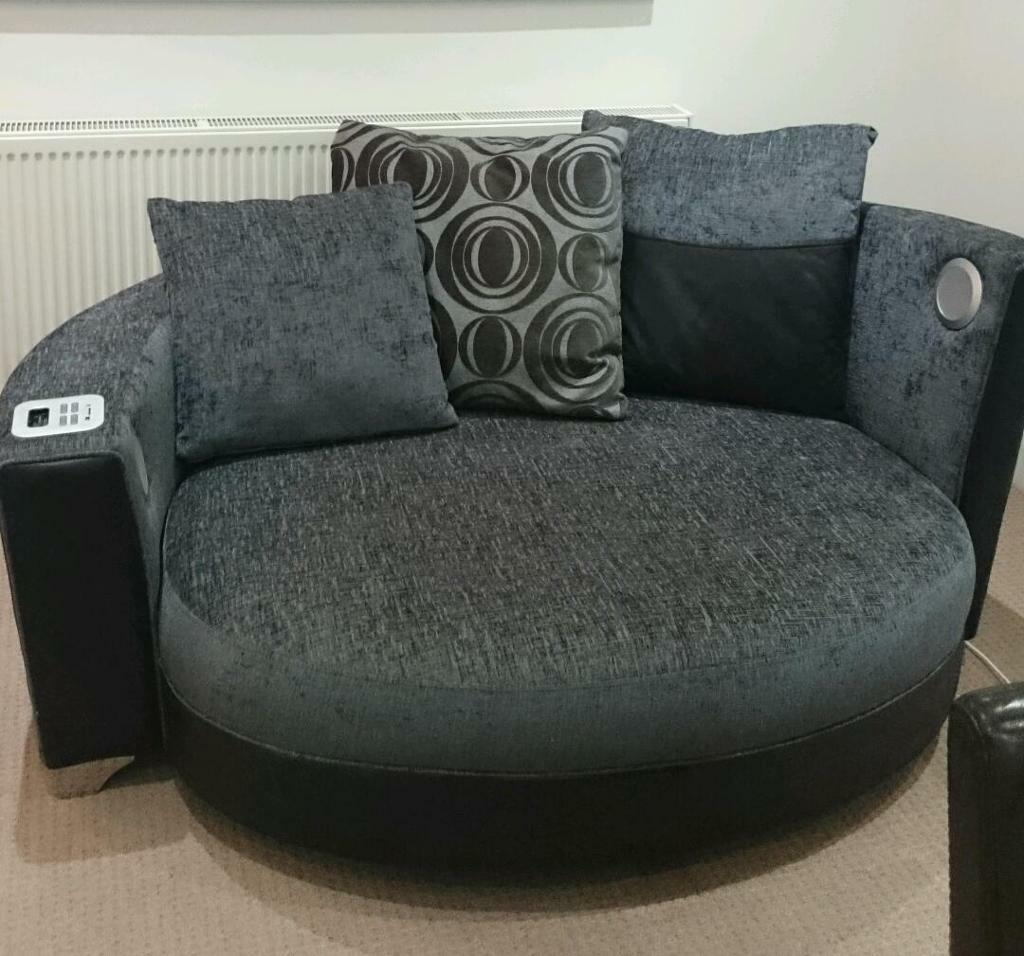Black Leather Sofa 2 Seater
