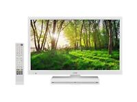 "Logik L24HEDW14 24"" Inch White HD Ready LED TV DVD Combi"
