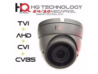 HQ Grey 2.4 and 3 MegaPixel Dome Cameras Hybrid 4 in 1 2.8-12mm 1080 Full HDTVI