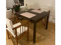 Dining Table (£40) - Dark Wood/Extendable