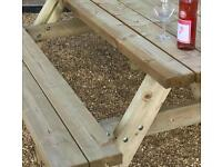 Quality Beer Garden Benches x 10