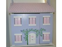 wooden dolls house and accessories