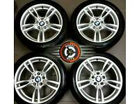 """18"""" Genuine BMW M-Sport staggered alloys, perfect cond, matching Continental tyres."""