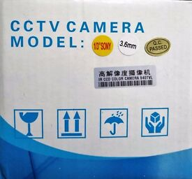 Brand New 540TVL 540 TVL CCTV Dome Camera 3.6mm 1/3 Sony CMOS Lens White Indoor IR Day Night PAL UK