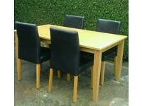 TABLE & 4 CHAIRS ( OPEN TO OFFERS ££)