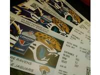 3 tickets for NFL international series Jacksonville Jaguars and Baltimore Ravens 70each