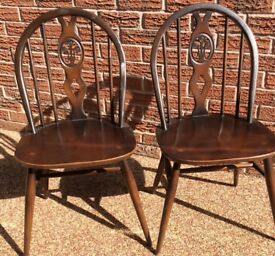 A pair of ERCOL Windsor Dining Chairs