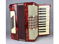 VINTAGE -GALOTTA- 32 BASS PIANO ACCORDION CONCERTINA SQUEEZE BOX & ORIGINAL CASE