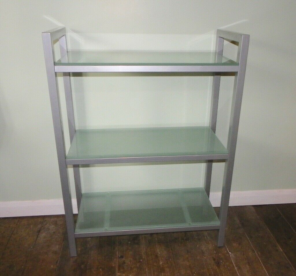 new product afa36 07182 FREE STANDING SHELF UNIT WITH FROSTED GLASS SHELVES. | in Hereford,  Herefordshire | Gumtree