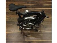 Brompton M6L Folding Bike Black Bicycle 2018 *Brand New*