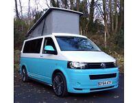 2014 / 64 VW Transporter T5 4 Birth Pop Top Two Tone Camper Van ABT Bodykit