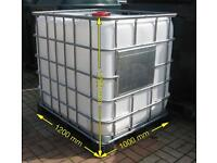 1000LT Ibc containers (steam-cleaned) FREE delivery within 10miles! water/Fuel storage Tanks!