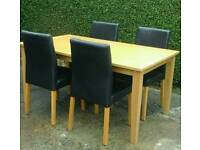TABLE & 4 CHAIRS ( OPEN TO OFFERS £ £ )