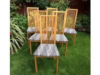 Excellent Set Of Six Oak Dining Chairs.