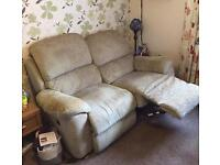 Leona 2 seater sofa with two electric recliners