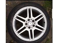 """Genuine 4x mercedes AMG 17"""" alloy wheels worth 500 bargain"""