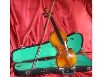 1/2 size Student Violin Set. Set up ready to play