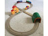 Children's plastic train set