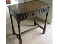 Jaycee Solid Oak Hall Console Occasional Side Table Desk