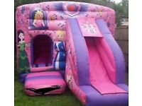 PRINCESS W/SLIDE BOUNCY CASTLE for hire / Popcorn & Candy Floss / Hot Dogs + more / Essex & London