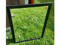 Black wooden framed mirror great condition Only £4