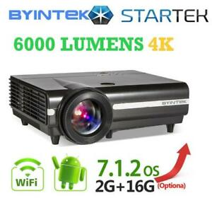 WAW !  NEW super power smart projector 3D 4k  6000lumens bluetooth WiFi / 6 month guarantee /  home theater