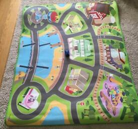Paw patrol mega play mat with vehicle