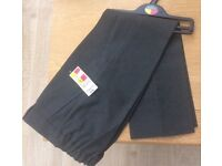 NEW 2, M&S Boys Grey School Trousers,ages 7-8,age 8-9