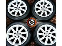 """16"""" Genuine alloys Seat VW Caddy etc good cond excellent matching tyres."""