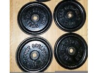 4x7.5kg metal weight plates