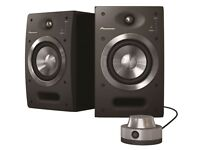 PIONEER SDJ-05 ACTIVE STUDIO MONITOR SPEAKERS MINT CONDITION.
