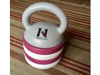 Kelly Holmes adjustable kettlebell