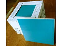 V&A Santiago plain turquoise gloss tiles, by British Ceramic Tile. 3 packs of 25 + 5 extra