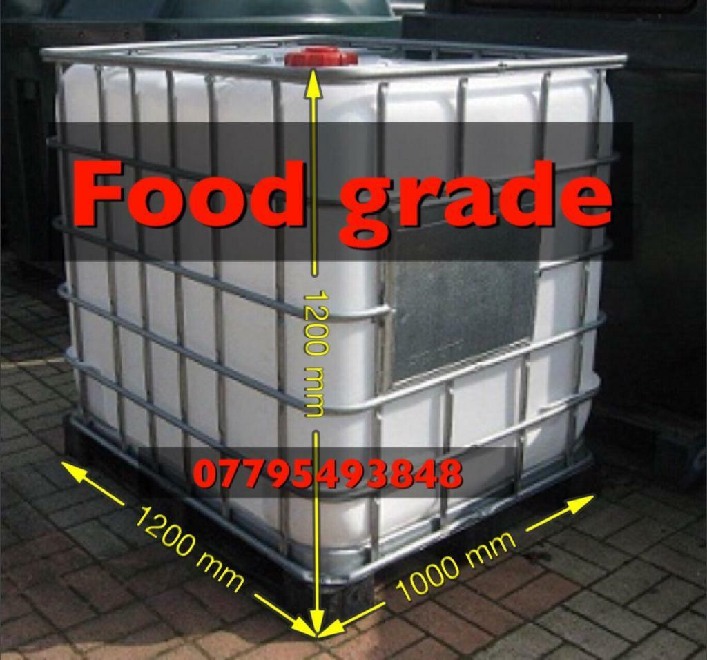 IBC tank clear with metal frame 1000 litre