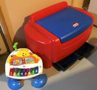 Toy chest and piano