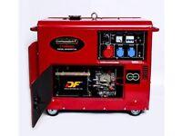 Diesel Generator 230V 50Hz 8.5kva, Silent With Electric Start