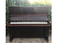Keppel Upright Dark Brown Piano in Excellent Fully Working for Beginners LOCAL DELIVERY POSSIBLE
