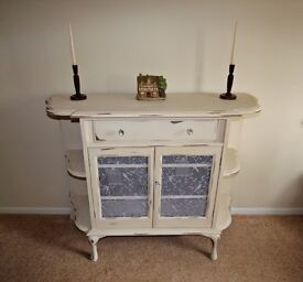 Sideboard Chiffonier Dresser Cupboard Storage Buffet Furniture Birdcage Netting Cream Shabby Chic