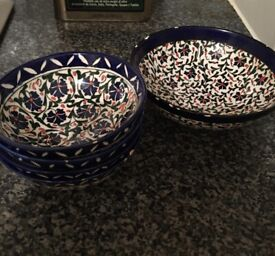 Small floral bowls from Turkey