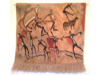Genuine hand made African wall hanging bought in Swaziland.
