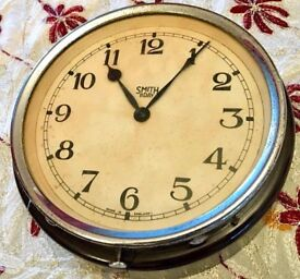 FULLY WORKING ANTIQUE CLOCK MADE BY SMITH 8 DAY - £145 ONO