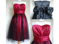 Gorgeous Strapless Knee-length Prom Bridesmaid Formal Party Dress with Taffeta Skirt £9.99