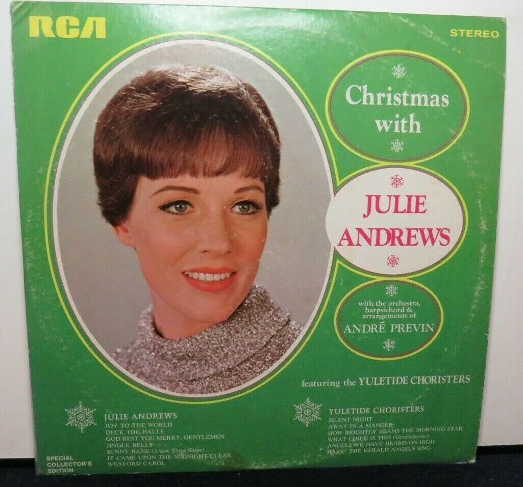 JULIE ANDREWS CHRISTMAS WITH VG PRS-920 VINYL LP RECORD  - $6.99