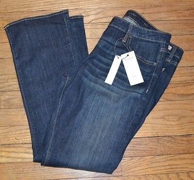 Simply Vera Vera Wang Jeans Bootcut  Denim Jean With Gold Accent Stitch Mid Rise