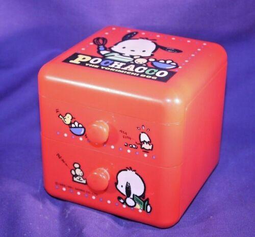 Pochacco Plastic Box with drawers Sanrio Japan 1991