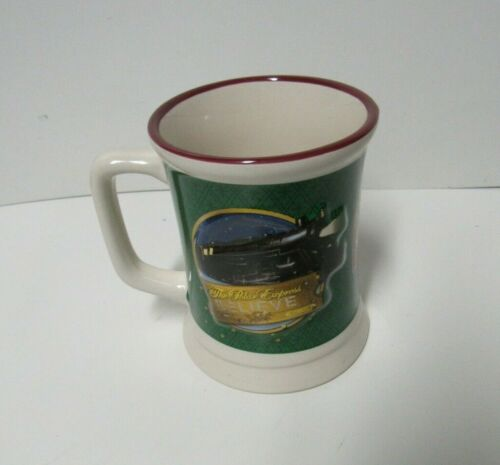 "SET OF 4 WARNER BROS. THE POLAR EXPRESS HOT CHOCOLATE MUG ""BELIEVE"""