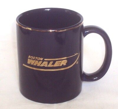 "Classic BOSTON WHALER BOATS LOGO ""NASBLA 99"" 11oz BLUE Mug"