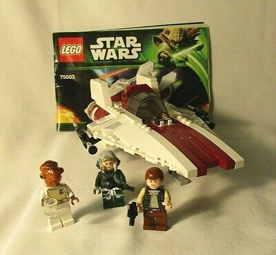 Lego Star Wars #75003 A-Wing Starfighter 100% Piece Complete w/Instructions