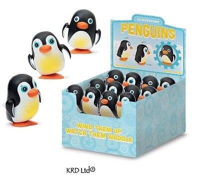 Kids Clockwork Wind Up Cute Penguin Toys Waddling Stocking Filler Party Bag Gift