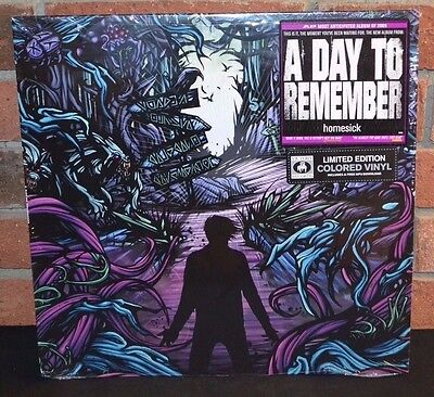 A DAY TO REMEMBER - Homesick, Limited PURPLE COLORED Vinyl + DL NEW & SEALED!
